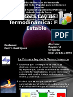 Primera Ley de La Termodinámica Flujo Estable