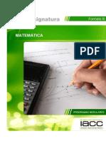 plan de asigantura matematicas