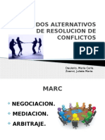 Metodos Alternativos de Resolucion de Conflictos