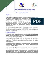 Bases XXV Concurso Monografía