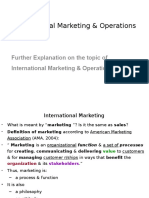 International Marketing & Operations (Definition)