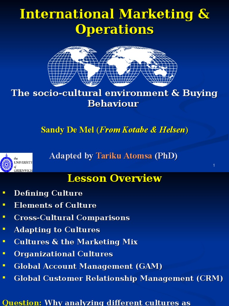 cultural environment in marketing