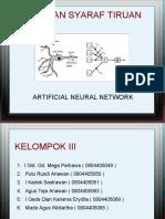 Jaringan Syaraf Tiruan Artificial Neural Network