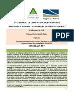 Primer Circular 2o Congreso Ccss Agrarias