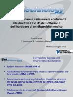Come convalidare e assicurare la conformità alle direttive EC e US del software e dell'hardware di un dispositivo medico