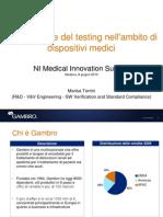Automazione del testing nell'ambito di dispositivi medici