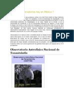 Cuántos Observatorios Hay en México