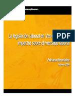 La Legislacion Laboral en Venezuela y Sus Impactos Sobre El Mercado Laboral (Data)