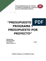 Presupuesto Por Programa y Presupuesto Por Proyecto