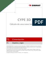 0184 T5 P1 Zapatas y Vigas Metal 3D