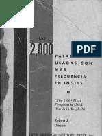 Las 2000 Palabras Usadas Con Mas Frecuencia en Ingles