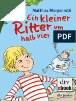 Ein Kleiner Ritter Um Halb Vier Matthias Morgenroth