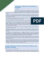 Denr Names 29 Priority Areas for Community Development Program