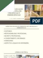Aspectos Legales en Medicina de Urgencias y Emergencias