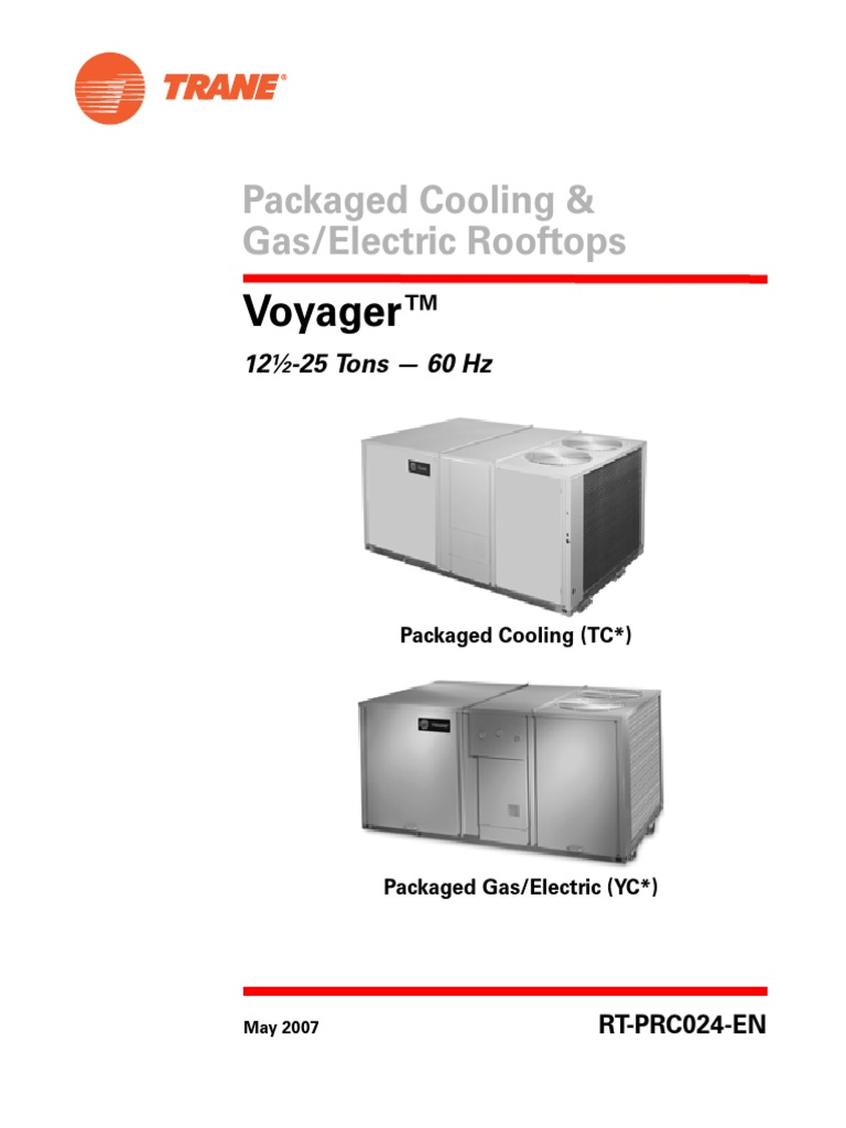trane 12 5 to 25 tons hvac air conditioning rh scribd com