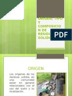 Clase 2 Origen, Tipo y Composicion de Residuos Solidos