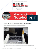 Como Desmontar o Notebook PHILCO 14E
