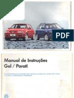 Manual de Instruções GOL 1.8 Ano 1999