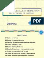 Unidad 02 - Introducción a los Términos y Propósitos de Costos