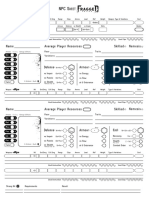 Fragged Empire - NPC Sheet