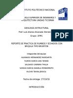 Reportepractica Geologia, Rumbos y Echados