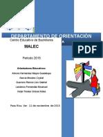 Proyecto Orientación Educativa