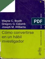 como convertirse en un investigador Booth Wayne.pdf