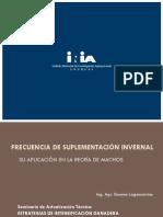 3 - Frecuencia de Suplementación Invernal - Su Aplicación en La Recría de Machos