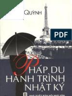 Pháp Du Hành Trình Nhật Ký - Phạm Quỳnh