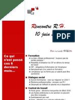 Rencontre RH Du 10 Juin 2010