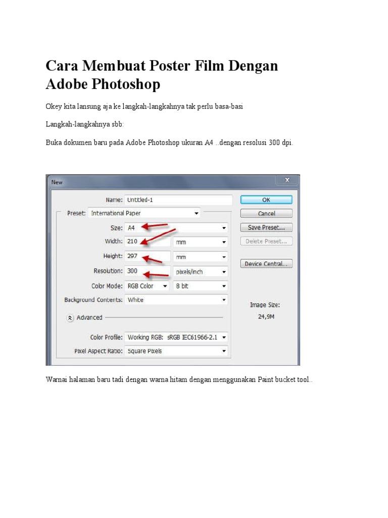Cara Membuat Poster Film Dengan Adobe Photoshop