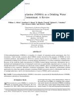 NDMA as a Drinking Water Contaminant