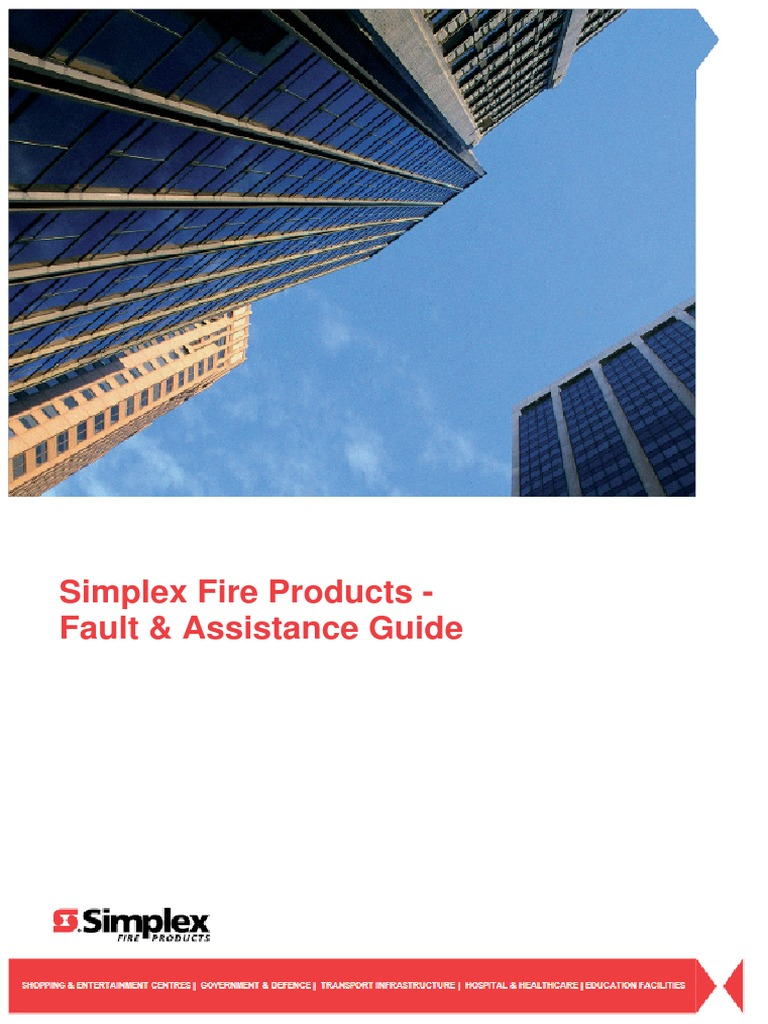 Simplex Fire Products - Fault & Assistance Guide