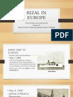 Rizal in Europe Report