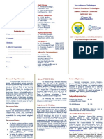 24 Aug 2016 Pre-conference Workshop DSU-ITC Trends in Healthcare Technologies Brochure