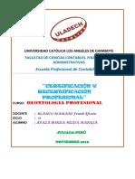 Certificacion y Rectificacion