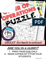 Order of Operations Triangle Matching Puzzle