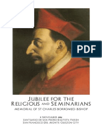 Jubilee for Religious and Seminarians Booklet