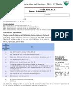Guía PSU - Números - Clase 1.