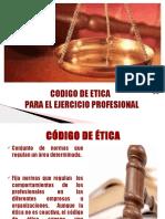 Codigo de Etica Profesional Formulacion de Proyectos[1]