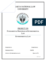 Fundamental Principles of Env Law