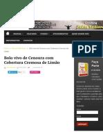 Bolo vivo de Cenoura com Cobertura de Cremosa de Limão | Manual Humano