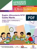 Recetario Menús Escolares Costa Norte - QualiWarma 2014