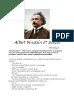 Albert Einstein at School With Pic
