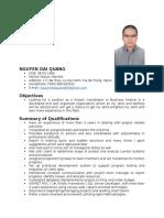 Nguyen Dai Quang the Lastest Cv Docx 1444203975 (Pham Mem)
