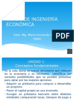 Unidad 1 Curso de Ingeniería Económica UNAD