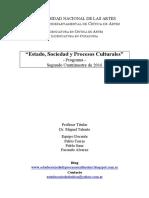 UNA 2016 - Estado, Sociedad y Procesos Culturales - Programa.pdf