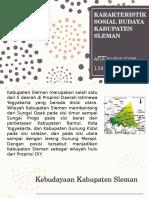 Karakteristik Sosial Budaya Kabupaten Sleman