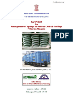 Pamphlet on Arrangement of Springs in Various Casnub Trolleys Fitted on Air Brake Wagon