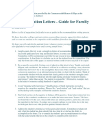 Recommendation Letter Tips for Faculty